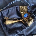 Tapis de divination velours et sa pochette