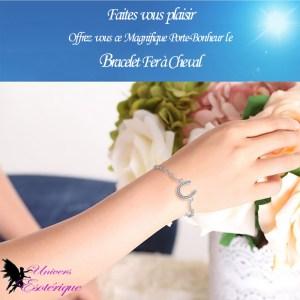 Bracelet Porte Bonheur Fer à Cheval - Boutique Univers ésotérique