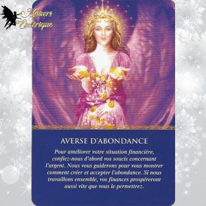 Tirage 1 carte Oracle des Anges Doreen Virtue Averse d'abondance