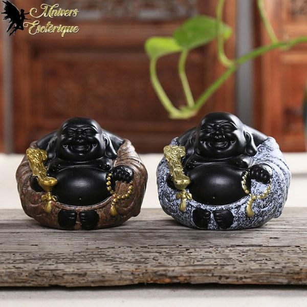 Statuette Bouddha rieur fortune assis, bouddha gros ventre - Boutique Univers ésotérique