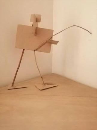 Ana Cota Alvarez. Composición, cartón y madera.