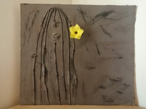 Ana Cota Alvarez.-Relieve, madera y papel maché.