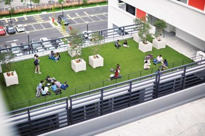 Aerial view of rooftop garden in Subang 2