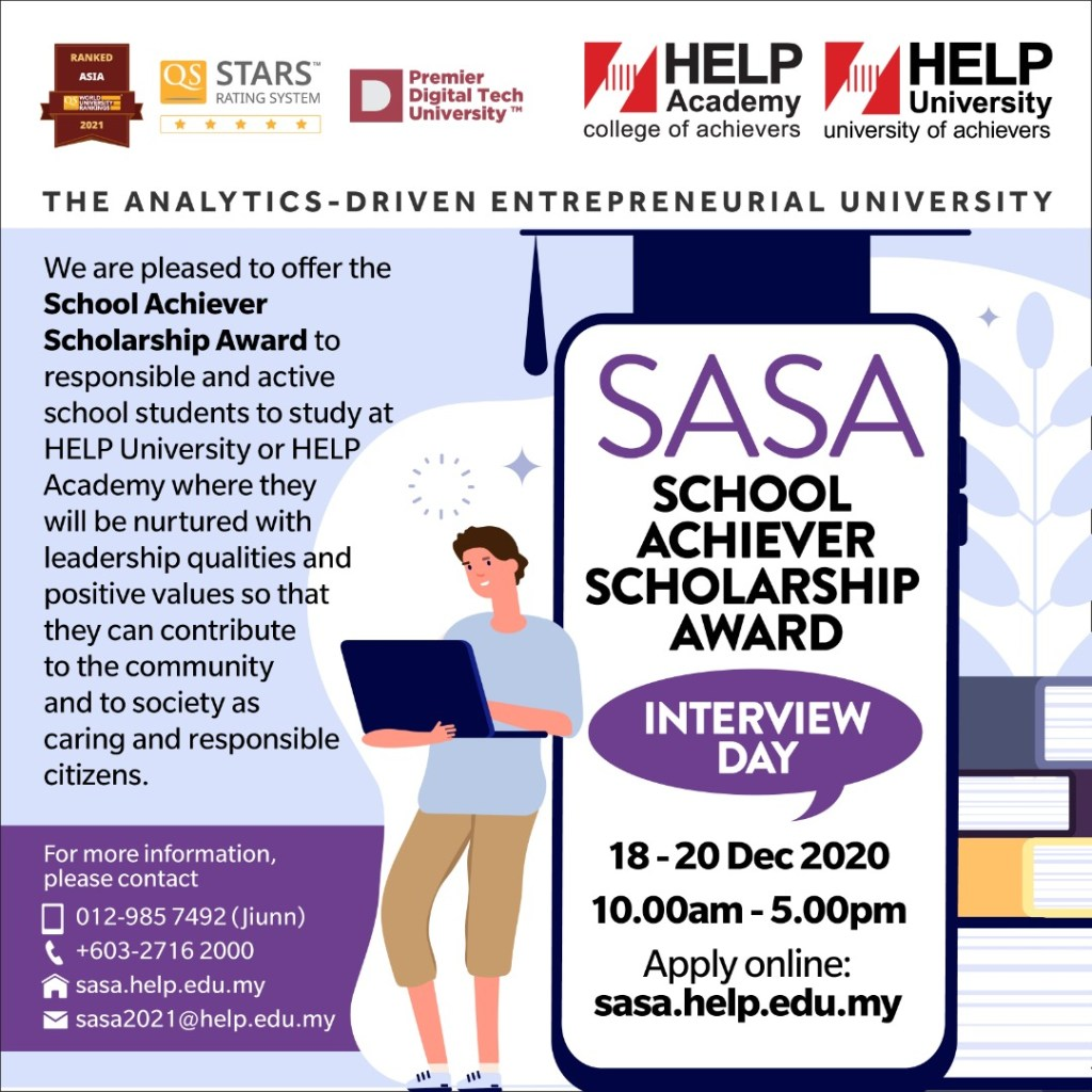 Poster for School Achiver Scholarship Award Interviews