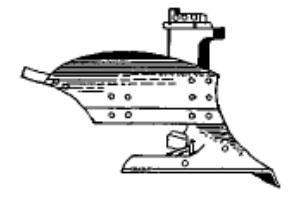 Корпус плуга с вырезным отвалом