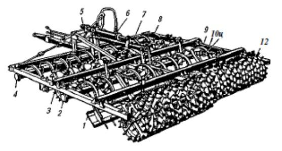 Комбинированный почвообрабатывающий полунавесной агрегат РВК-3,6