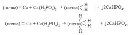Реакция фосфорных удобрений с почвой