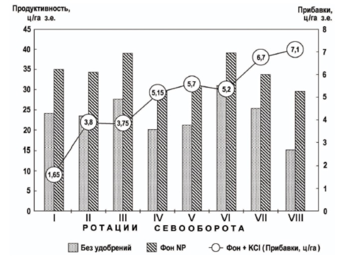 Влияние калийных удобрений на продуктивность севооборота