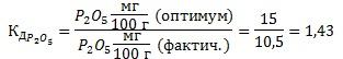 Коэффициент действия питательного элемента (фосфор)
