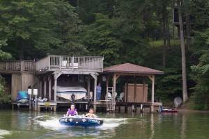 boat house, dock & beach