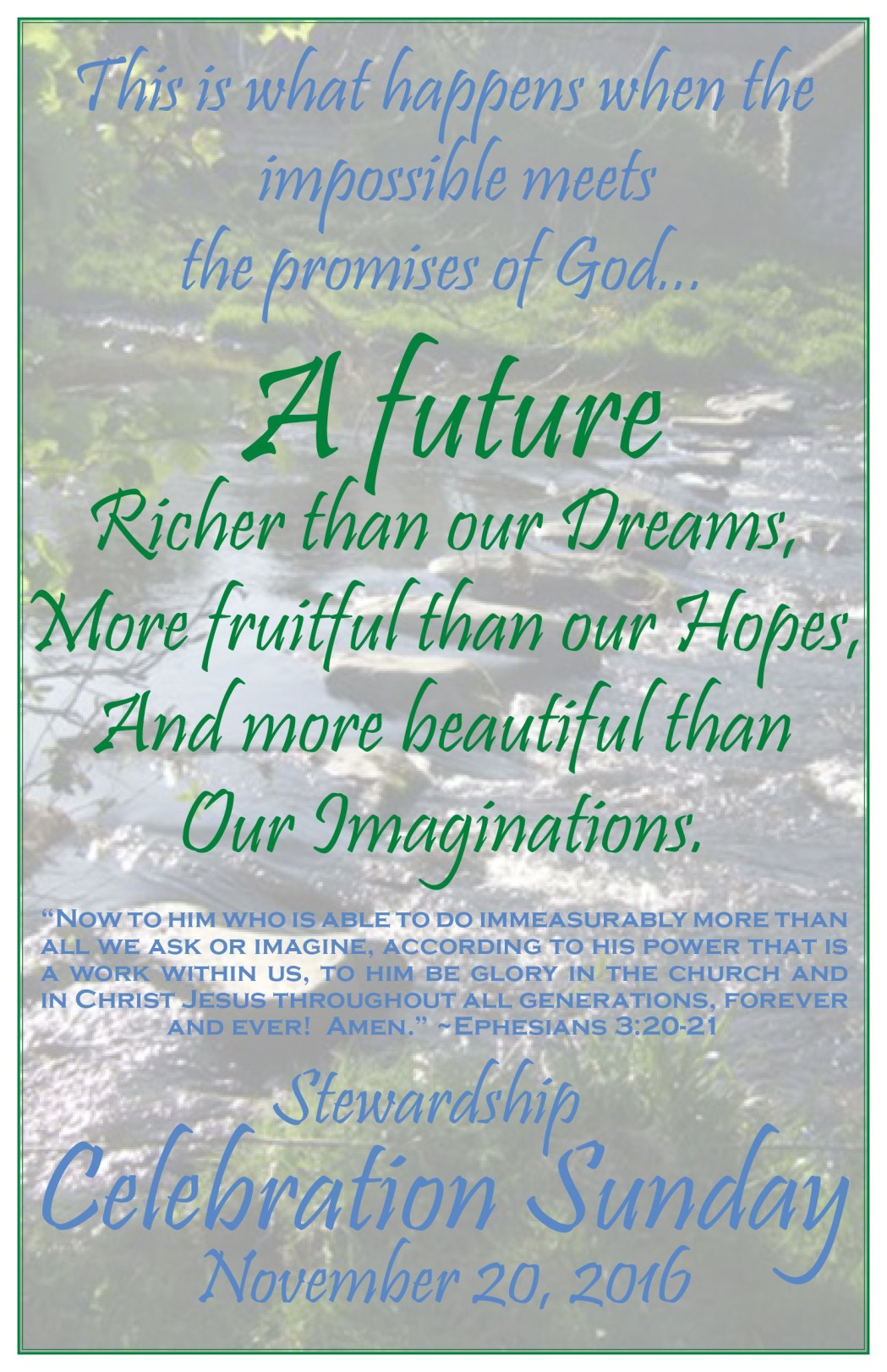 Stewardship Campaign - 2016