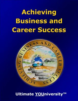 Achieving Business and Career Success