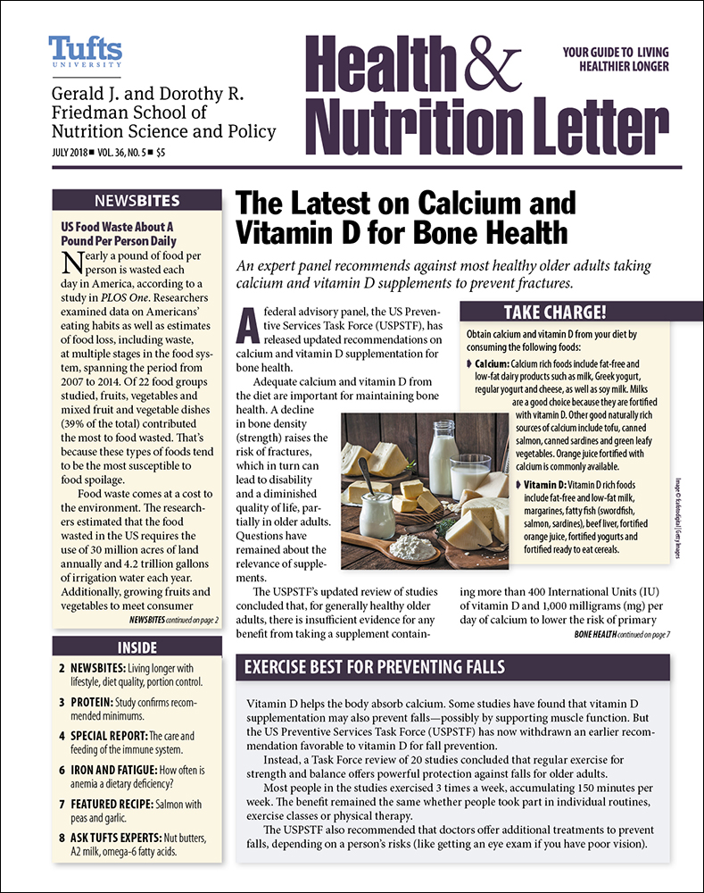 Tufts University Health And Nutrition Letter Jidiletters Co