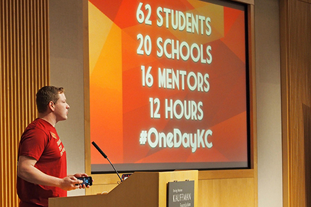 Trevor Nicks of William Jewell College kicks off #OneDayKC