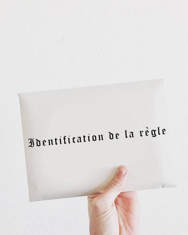 Identification de la règle de droit