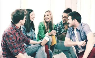 College Students chilling