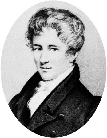 Niels Henrik Abel, lithograph after a drawing by Johan Gorbitz, 1826.