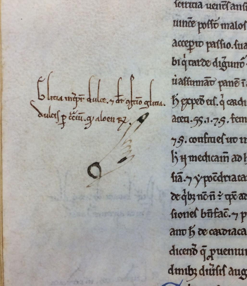 "Manicule in the margins of ""Regulae Pastoralis Liber"", 10th-11th Cent. (MS Hunter 431 (V.5.1))"