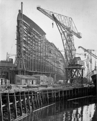 RMS Queen Mary - under construction