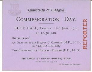Invitation of Commemoration Day 1914 (Acc130/2/1/2)