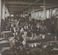 Workshop on the Clyde producing artificial limbs for Erskine
