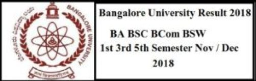 Bangalore University 1st 3rd 5th Sem Result 2018