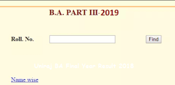 Uniraj BA 3rd Year Result 2020