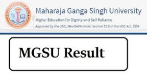 MGSU BA 2nd Year Result