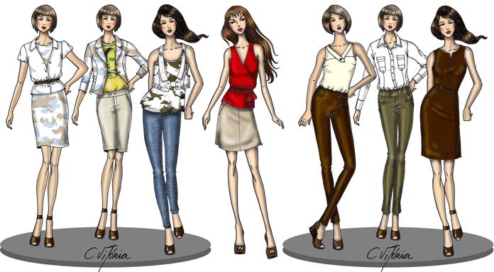 Resultado de imagem para desenhos de moda