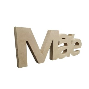 "RECORTE ROUTER ESCRITO ""MAE""18MM-28X12CM"