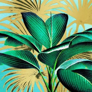 "GUARDANAPO ""TROPICAL LEAVES""-33X33CM"
