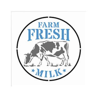 OPA ESTENCIL 14X14-FARMHOUSE FRESH MILK