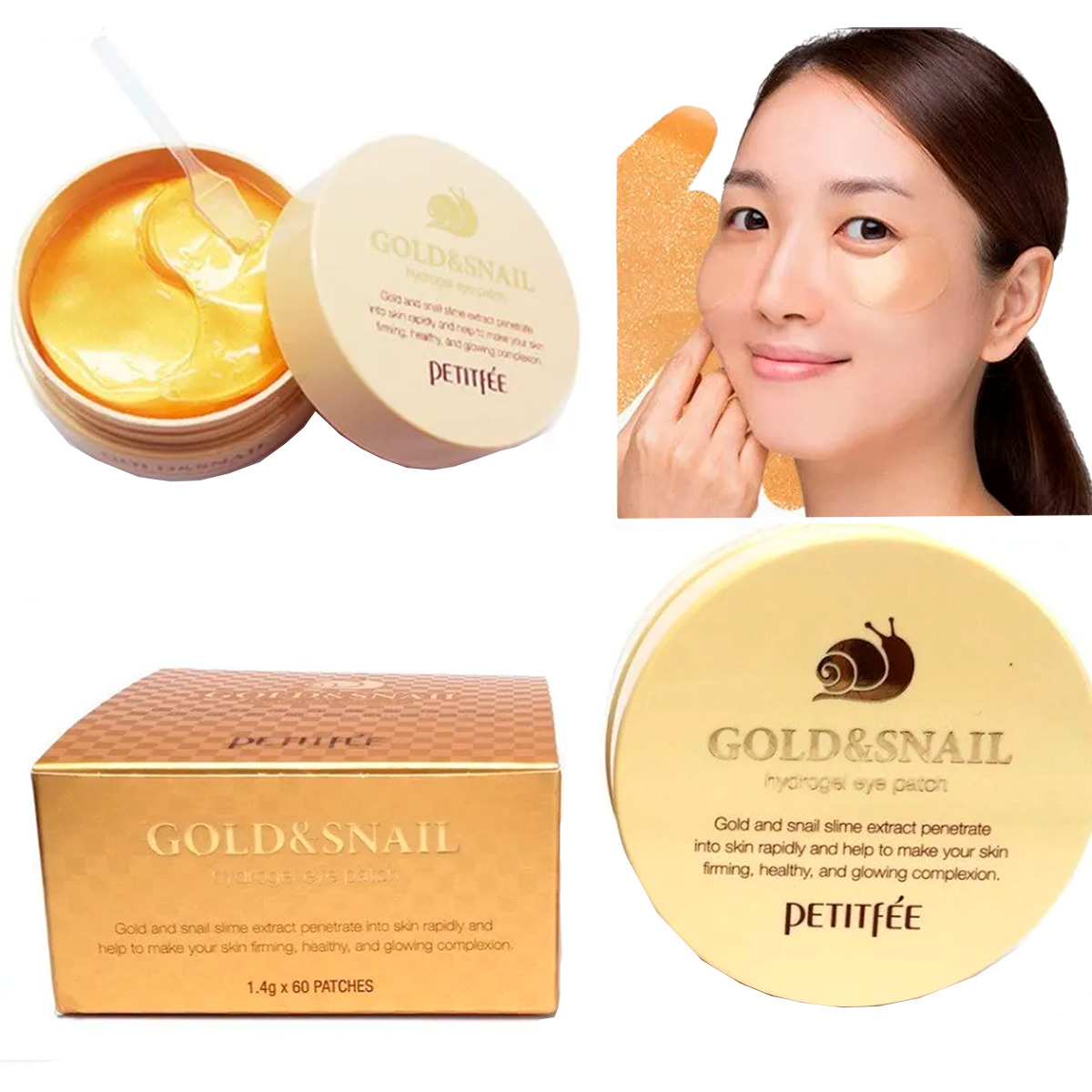 Gold & Snail Hydrogel Eye Patch 60 Petitfée