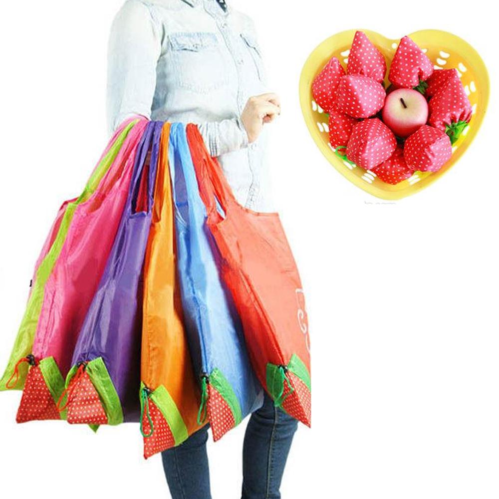 Bolsas Reutilizables Ecológicas Para Supermercado Envoltura De Fresa