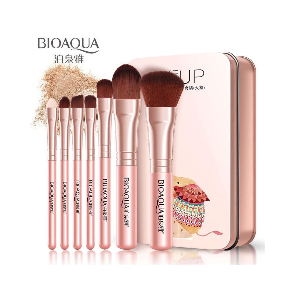 Brochas Extra Suaves Bioaqua Maquillaje Facial Y Ojos Con Estuche 7pzs