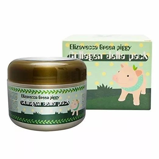 Crema Elizavecca Green Piggy Collagen Hidratante Colágeno Suavidad