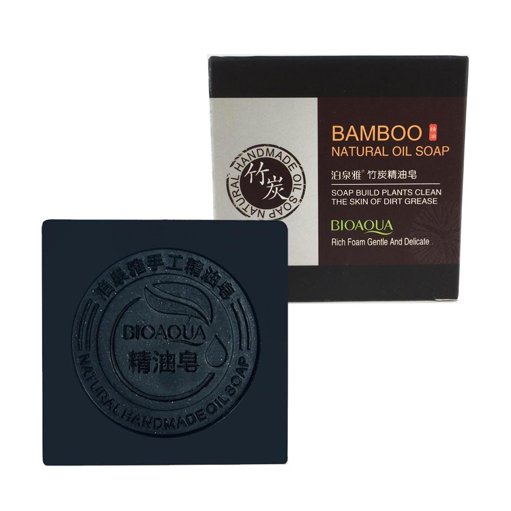 Jabón De Carbón De Bambú Control De Aceite Facial Bioaqua