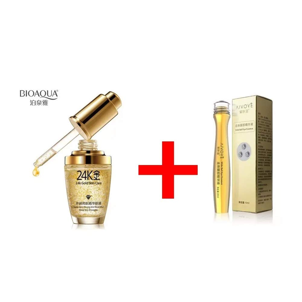 Kit Bioaqua 24k Gold Essence Colageno Acido Hialuroinico 2pz