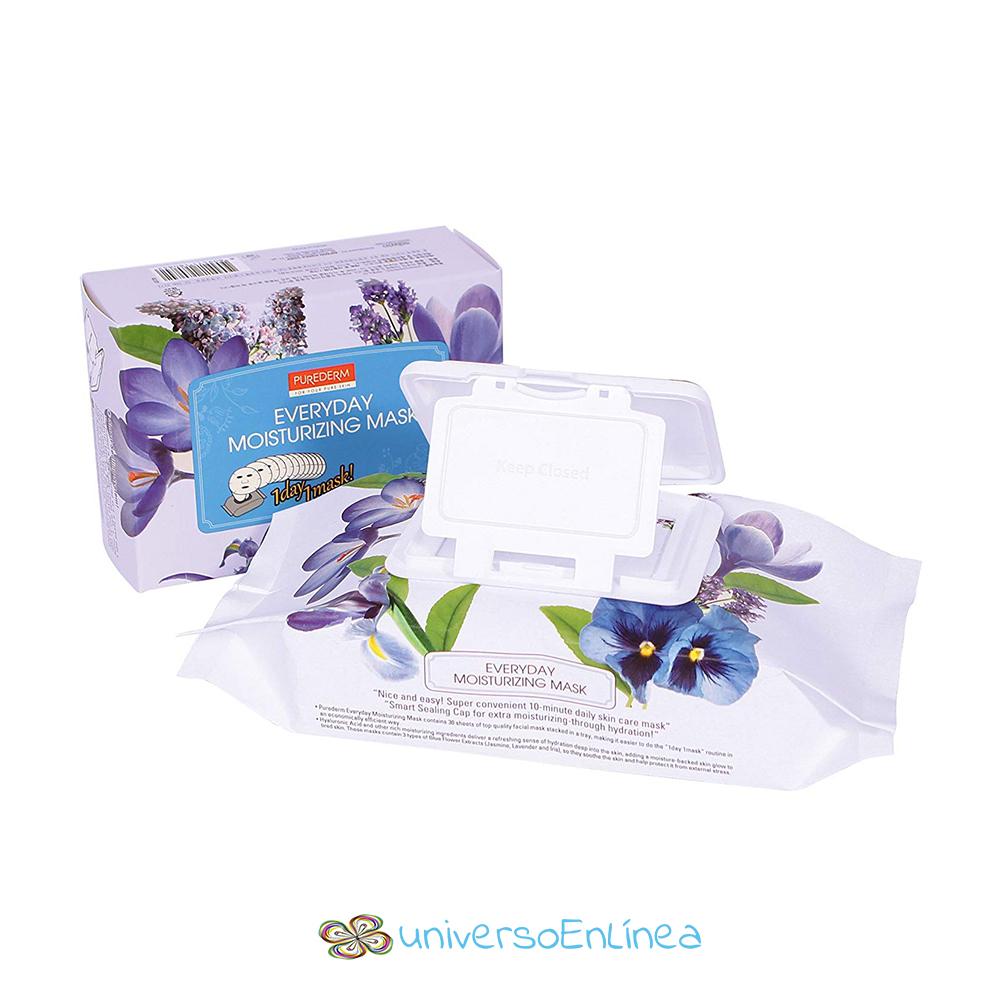 Mascarillas Diarias Aroma A Lavanda Jazmín E Iris 30 Piezas Purederm
