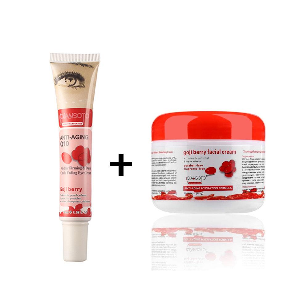 Paquete Qiansoto Crema Qiansoto Goji Facial + Crema Goji Q10 Ojos