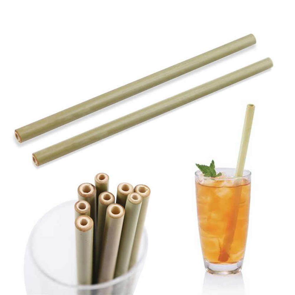 Popotes Ecológicos De Bambú Reutilizables Biodegradables 12pz