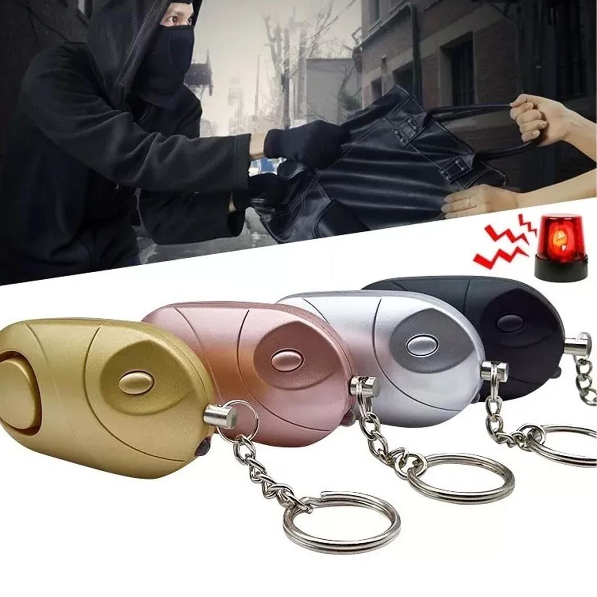 Alarma Llavero Mujer Defensa Personal Metálicos Luz