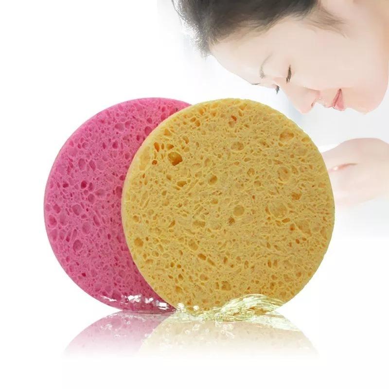 Esponja Fibra Celulosa Natural Limpieza Facial Pachs 1 Pzs