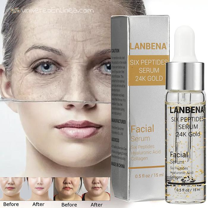 Serum Lanbena Seis Péptidos Hidrata Anti-Envejecimiento
