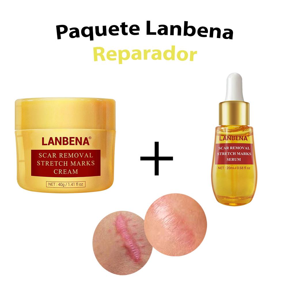 Duo Lanbena Reparador De Cicatrices Serum Y Crema Desvanece Marcas