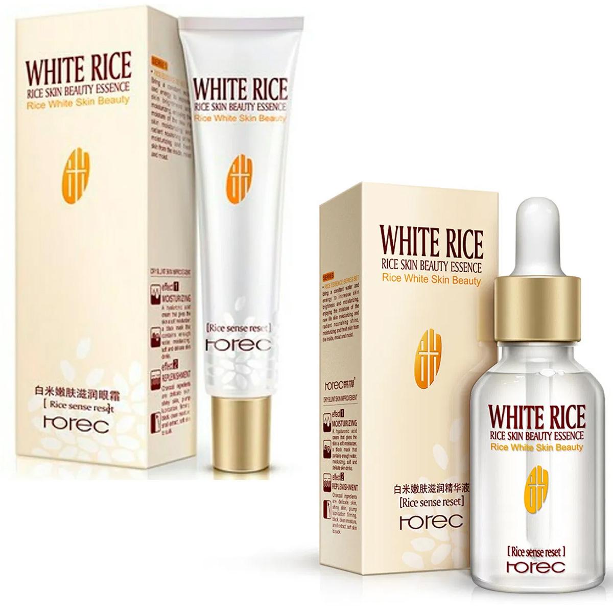 Dúo Rorec Serum Facial Y Crema De Ojos Hidratante Reduce Poros Disminuye Arrugas Y Ojeras