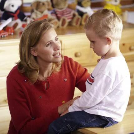 Mamma parla con il figlio