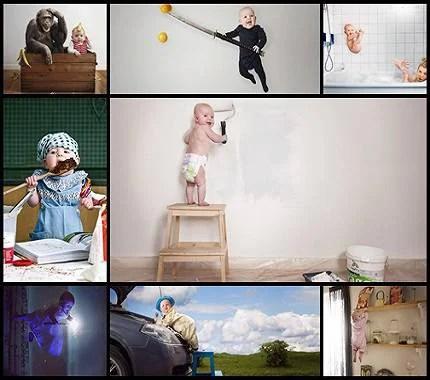 imagini creative bambini