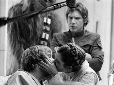 bacio leila luke skywalker