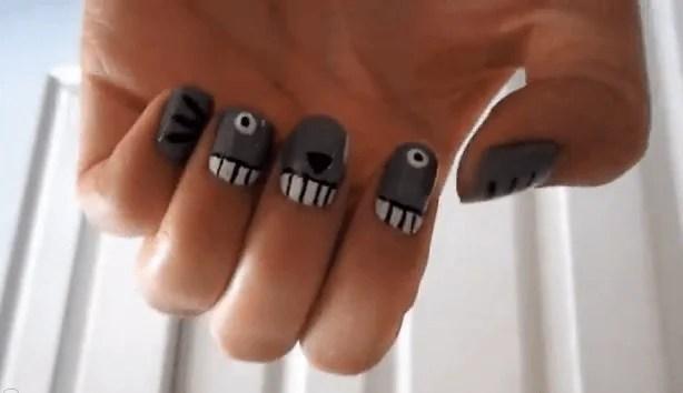 nail art totoro